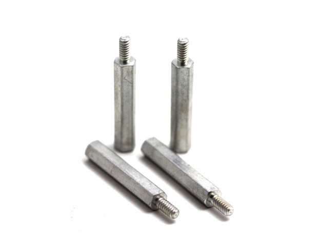 Entretoise aluminum 25 mm filetage 4-40 4 pcs