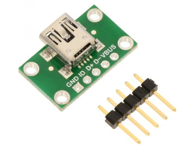Pololu USB Mini-B Breakout Board